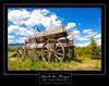 Chuck the Wagon  with black border Print